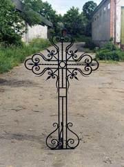 Кресты, оградки, скамьи и другие изделия из металла.Ковка художественная